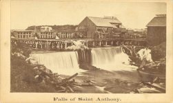 1863 ca. Falls of Saint Anthony, Minnesota East Bank Whitney CDV 4″×25″ front 3