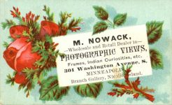 1880 ca. M. NOWAK PHOTOGRAPHIC VIEWS Minneapolis 3.25″×2″