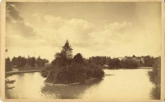 1885 ca. Central Park now Loring Minneapolis, Minn H. B. Norton 8″×5″ photo front
