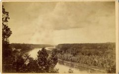 1885 ca. View of Mississippi River Minneapolis, Minn H. B. Norton 8″×5″ photo front