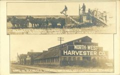 1905 ca. BLEWETT'S NORTH WEST HARVESTER CO SPOKANE, WN RPPC front