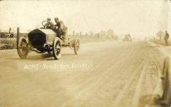 1908 Savannah, GA AUTO RACE COURSE ACME Newsteller Driver RPPC front
