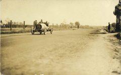 1908 Savannah, GA AUTO RACE COURSE Car 6 maybe THOMAS-DETROITS RPPC front