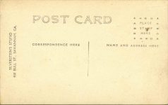 1908 Savannah, GA AUTO RACE COURSE SAVH GA 08 RPPC back