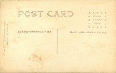 1908 Savannah, GA AUTO RACE COURSE THOMAS-DETROITS RPPC back