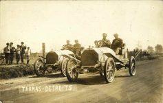 1908 Savannah, GA AUTO RACE COURSE THOMAS-DETROITS RPPC front
