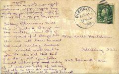 1910 PEORIA AUTO RACES WINNER 25 MI FREE FOR ALL BW POST PHOTO RPPC back