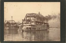 1915 ca. Steamboat WINONA at St. Paul 5.5″×4″ front