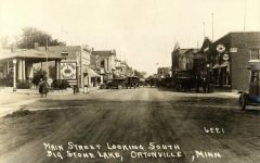 1920 ca. ORTONVILLE, MINN MAIN STREET LOOKING SOUTH 6221 RPPC front