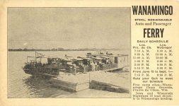 1920s ca. WANAMINGO FERRY Prairie du Chien, Wis 6″×3.5″ postcard front