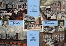 1930s ca. MADERS Restaurant Milwaukee, WIS Famous German MADER'S POST CARD 10.25″×7.25″ postcard front