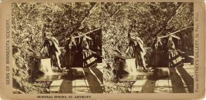 1865 ca. MINERAL SPRINGS ST. ANTHONY Minneapolis WHITNEY'S GALLERY 7″×3.5″ stereoview front