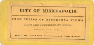 1880 ca. CITY OF MINNEAPOLIS UPTON 7″×3.5″ stereoview back