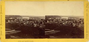 1880 ca. CITY OF SAINT PAUL WHITNEY'S GALLERY 7″×3.5″ stereoview front