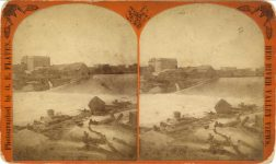 1880 ca. St. Anthony Falls Minneapolis, Minn RED RIVER VALLEY VIEWS 7″×4.25″ stereoview front