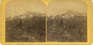 1880 ca. View at City of DuLuth WHITNEY ZIMMERMAN 7″×3.5″ stereoview front