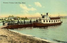 1902 6 23 Steamer Verana Lake City, Minn postcard front