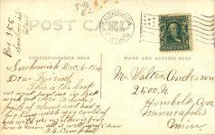 1908 12 6 Snohomish, WASH hunting boat RPPC back