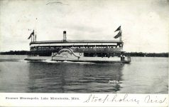 1908 7 24 Steamer Minneapolis Lake Minnetonka, Minn postcard front