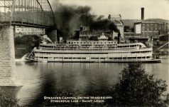 1910 ca. STEAMER CAPITOL ON THE MISSISSIPPI RPPC front