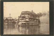 1915 ca. Steamboat WINONA at St. Paul, MINN 5.5″×3.75″ photo front