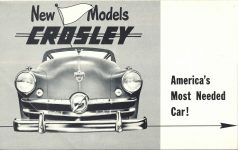 1952 CROSLEY New Models 10″×6.25″ Front page 1