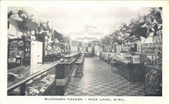 BUCKHORN TAVERN RICE LAKE, WISC postcard front