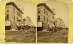 1885 ca. Nicollet House View at Minneapolis Minn M. NOWACK Photographer 7″×4.25″ stereoview front