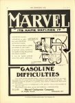 1910 6 1 MARVEL Carburetor ITS NAME DEFINES IT THE HORSELESS AGE 8.75″×12″ page 18