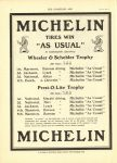 1910 6 1 MICHELIN TIRES WIN Wheeler Schebler Trophy Prest O Lite Trophy THE HORSELESS AGE 8.75″×12″ page 10