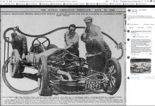 1916 7 23 ROMANO Racer THE SUNDAY OREGONIAN PORTLAND newspaper photo screenshot