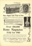 1910 2 23 REMY Over 100000 Remy Magnetos Sold for 1910 THE HORSELESS AGE 8.5″×12″ page 8
