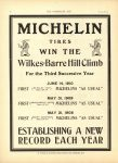 1910 6 22 MICHELIN WIN THE Wilkes-Barre Hill Climb 3rd year THE HORSELESS AGE 8.5″×12″ page 16
