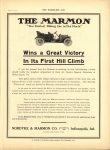 1910 6 22 THE MARMON Wins a Great Victory In It's First Hill Climb THE HORSELESS AGE 88.5″×12″ page 9