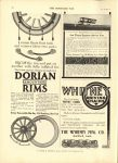 1910 7 13 DORIAN REMOUNTABLE RIMS THE HORSELESS AGE 8.5″×12″ page 28
