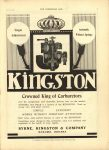 1910 7 13 KINGSTON Carburetor THE HORSELESS AGE 8.5″×12″ page 1