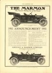 1910 7 13 THE MARMON 1911 ANNOUNCEMENT 1911 THE HORSELESS AGE 8.5″×12″ page 12