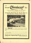 1910 7 13 The Great Chadwick Six WILKES-BARRE THE HORSELESS AGE 8.5″×12″ Inside front cover