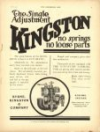 1910 7 20 KINGSTON Carburetor THE HORSELESS AGE 8.5″×12″ page 1