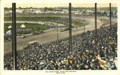 1920 ca. THE GRAND STAND Auto Racing Minnesota State Fair postcard front