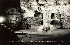 CRYSTAL CAVE Spring Valley, WISCONSIN Entrance 2nd Level RPPC front