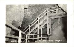 CRYSTAL CAVE Spring Valley, WISCONSIN Entrance to 2nd Level RPPC front