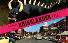 Hodag Greetings from Rhinelander, WIS postcard front