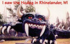 Hodag I saw the Hodag in Rhinelander, WIS postcard front