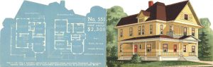 1904 RADFORD house design No. 551 5″x3.25″x2 card front