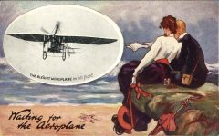 1910 8 4 Aeroplane Waiting for the Aeroplane TUCK'S POST CARD front