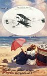 1910 ca. Aeroplane Would you rather be here or on an Aeroplane TUCK'S POST CARD front