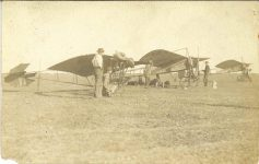 1910 ca. Three early aeroplanes RPPC front