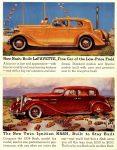 1934 Nash La FAYETTE Fine Car double 5.5″×7″ postcard inside