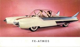1954 FORD FX-ATMOS concept car 5″×3″ card front